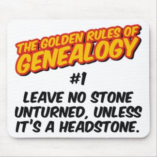 Las normas de oro de la genealogía #1 mouse pads
