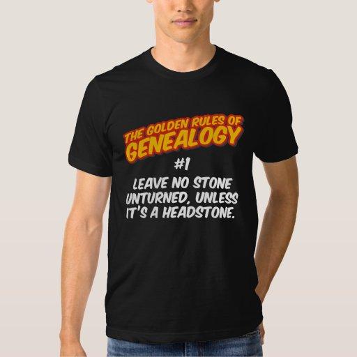 Las normas de oro de la genealogía #1 polera