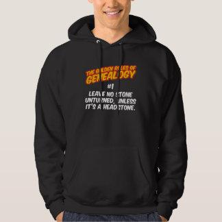 Las normas de oro de la genealogía #1 suéter con capucha