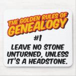 Las normas de oro de la genealogía #1 alfombrilla de raton