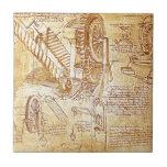 Las notas de da Vinci Azulejo
