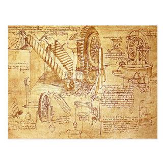 Las notas de da Vinci Tarjeta Postal