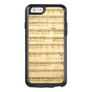 Las notas de la partitura del vintage envejecieron funda otterbox para iPhone 6/6s