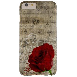 Las notas hermosas de la música del rosa rojo funda barely there iPhone 6 plus