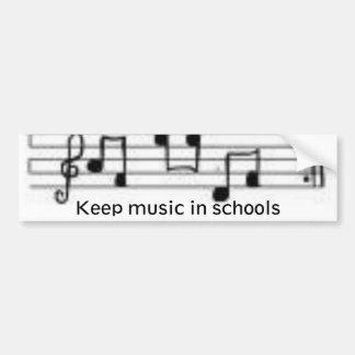 las notas, mantienen música escuelas pegatina para auto