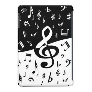 Las notas musicales al azar elegantes diseñan en n fundas de iPad mini