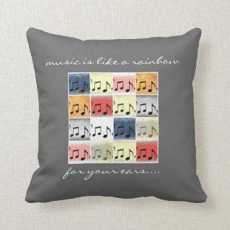 Las notas musicales coloridas, música son como un  almohadas