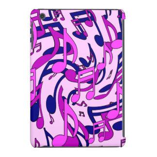 Las notas musicales palidecen - el modelo animado fundas de iPad mini