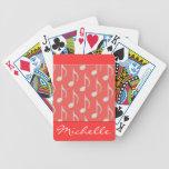 Las notas musicales personalizaron naipes barajas de cartas