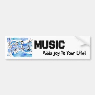 Las notas musicales vienen a la música de la vida  etiqueta de parachoque