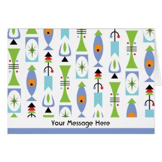 Las notas personalizadas forma retra o le tarjeta pequeña