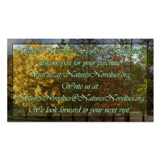 Las novedades de la naturaleza tarjetas de visita