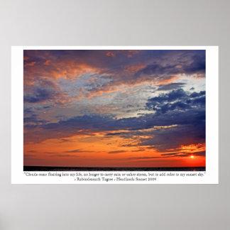 Las nubes añaden color a mi puesta del sol póster