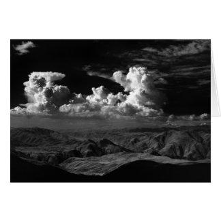 Las nubes sobre el Anza-Borrego abandonan, CA 1966 Tarjeta De Felicitación