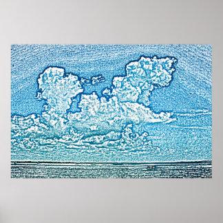 las nubes sobre el cielo de la Florida del Poster