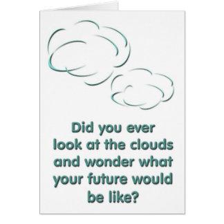 Las nubes tarjeta de felicitación