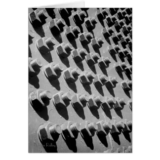 Las nueces del puente - y - los pernos esconden tarjeta de felicitación