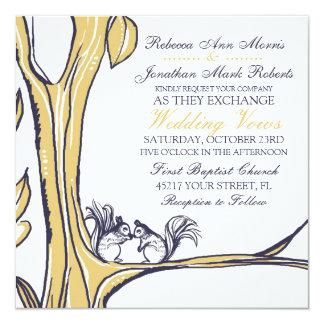 Las nueces sobre usted atesoran la invitación del invitación 13,3 cm x 13,3cm