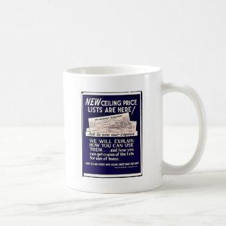¡Las nuevas listas del precio tope están aquí! Taza Básica Blanca