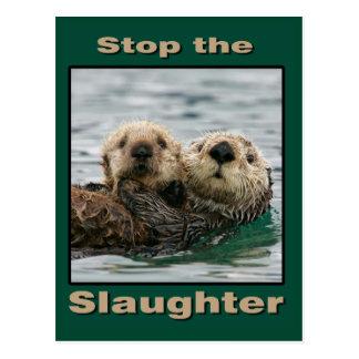 Las nutrias de mar - pare la matanza postal
