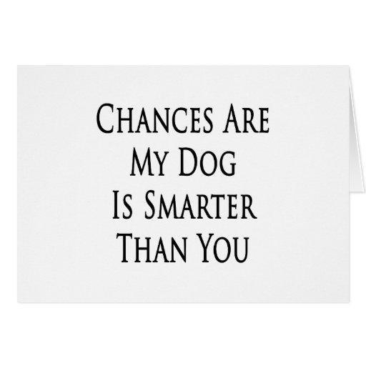 Las ocasiones son mi perro son más elegantes que u tarjeta