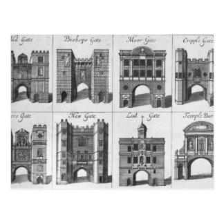 Las ocho puertas de la ciudad de Londres Postales