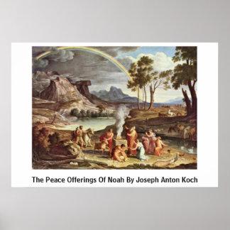 Las ofrendas de la paz de Noah de José Antón Koch Póster