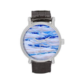 las olas oceánicas invierten diseño fresco de la r relojes de mano