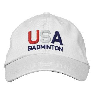 Las Olimpiadas del bádminton de los E.E.U.U. borda Gorra De Béisbol Bordada