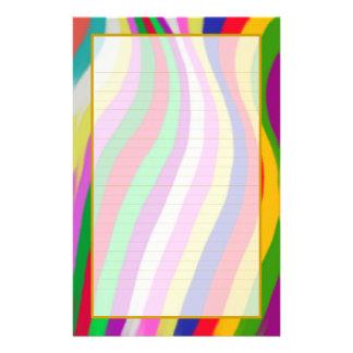 Las ondas coloridas alinearon muy bien los efectos papeleria