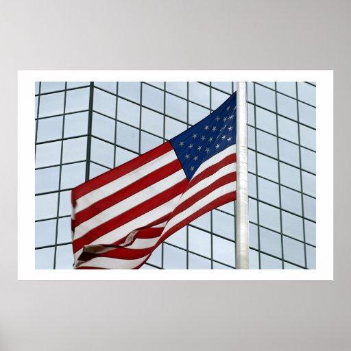 Las ondas de la bandera posters