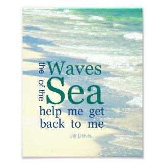 Las ondas de la cita literaria del mar fotografía