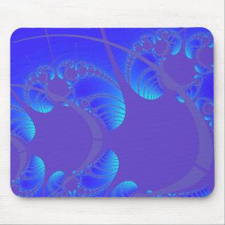 Las ondas del arte abstracto del ~ de los pescados tapete de ratón