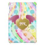 Las ondas en colores pastel femeninas lindas de lo iPad mini cárcasas