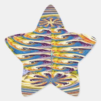 Las ondas giran la DIVERSIÓN colorida del óvalo de Colcomanias Forma De Estrellaes