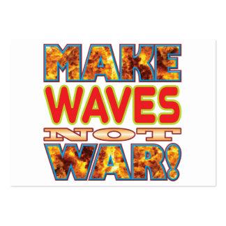 Las ondas hacen X Tarjetas De Visita Grandes