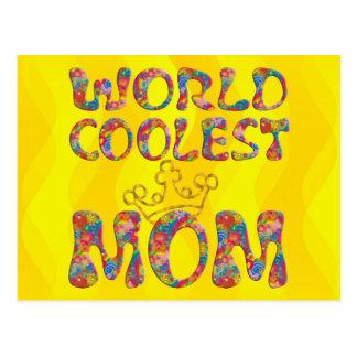 Las ondas más frescas del amarillo de la mamá el | tarjeta postal