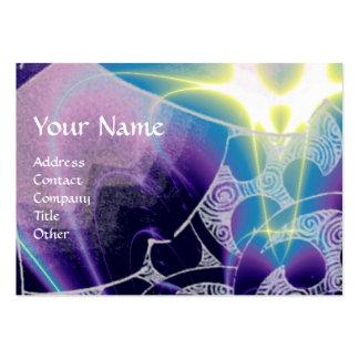 Las ONDAS púrpura blanca azul vibrante brillante Tarjeta De Visita