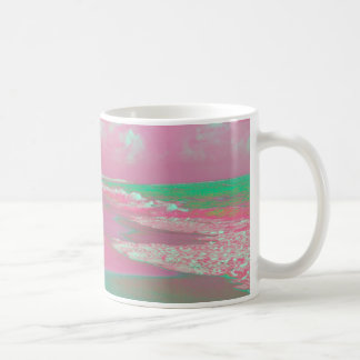 las ondas solarized el extracto verde magenta de tazas de café