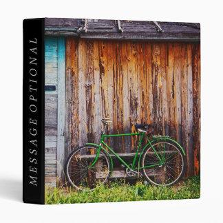 Las opciones verdes de la carpeta de la bicicleta