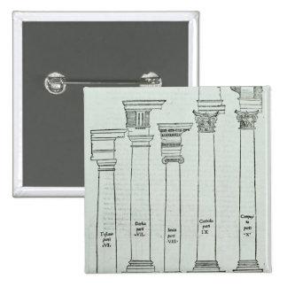 Las órdenes de la arquitectura pin cuadrada 5 cm
