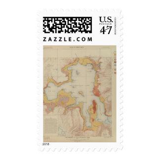 Las orillas del lago Yellowstone Sello Postal
