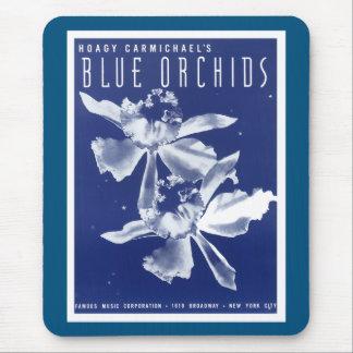 """Las orquídeas """"azules """" de Carmichael del Hoagy Tapetes De Ratón"""