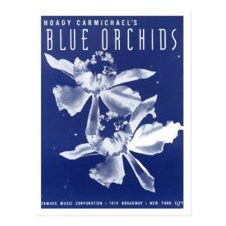"""Las orquídeas """"azules """" de Carmichael del Hoagy Postal"""