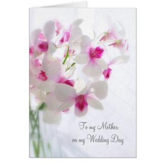 Las orquídeas blancas le agradecen mimar por mi tarjeta de felicitación