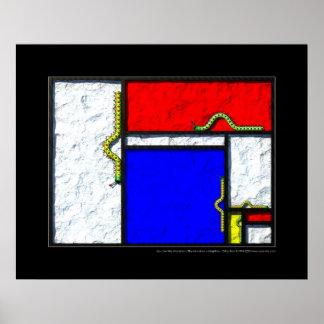Las orugas de Mondrian Póster