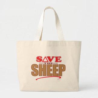 Las ovejas ahorran bolsa tela grande
