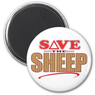 Las ovejas ahorran imán redondo 5 cm
