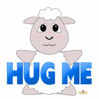 Las ovejas blancas Huggable azules me abrazan Esculturas Fotograficas
