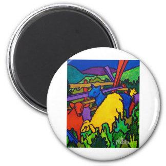 Las ovejas colorean por Piliero Imán Redondo 5 Cm